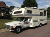 Only 57500 miles. Developed by National RV. 22RE 4