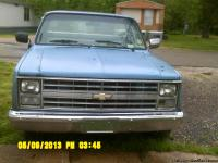 1986 Chevy 1500 2 wheel drive, blue truck for