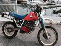 1986 Honda XL 600R. 6700 original miles. Street legal