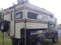 1986 Cascade cab over camper in good condition fits 8'