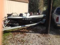 1987 15' proformance bass boat with 85 merc with new