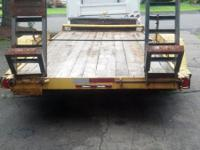 1987 Lowboy Equipment trailer 10,000# 16' long 6'
