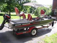 1987 16 ft. Bass Tracker Boat Loaded with all the