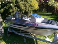 125HP Mercury Force runs excellent.  Open Bowrider with