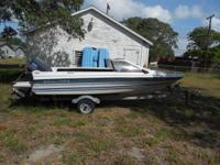 87 bayliner capri. 16.10 motor, boat and trailer. have