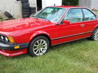 1987 BMW M6, cinnamon red with napa leather interior.