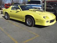 Options Included: 1987 Chevrolet Camaro IROC Z28. This