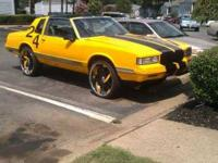 1987 2 door muscle car Its custom It has hypnotic brand