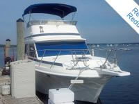 This Chris Craft has multiple cabins that is Great for
