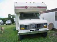 1987 Coachman Catalina Motor Home Ford truck front end