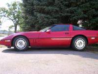 1987 corvette coupe,red on red.excellent running and