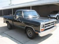 V-8, short bed, cold a/c, runs great Dodge Reliability!