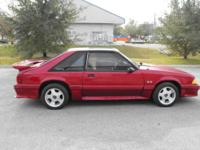This is a 1987 Ford Mustang GT 5.0, T-Top 3 Door