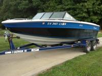 1987 Glassport 197 F/X Eliminator with trailer. It has