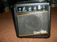 1987 Gorilla GG-20 guitar amp rare Black color! 30