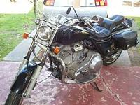 Ex highway Patrol motorcycle, bike has lots of items