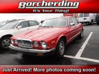 CLASSIC!!!!! This Low Mileage Red 1987 Jaguar XJ Vanden