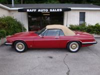 1987 Jaguar XJS Convertible - One Owner - Very Low