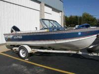 Description 1987 Lund Tyee5.3 w/2008 Evinrude Etec