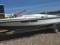 An extremely fast powerful speed boat for sale running