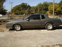 1987 SS MONTE CARLO T tops 62,000 miles 2 owner garage