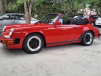 This is my 1987 porsche 911 cabriolet. the car is in
