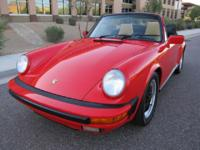 1987 Porsche 911 Carrera Cabriolet in Beautiful