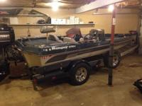 1987 ranger bass boat with a mercury 150 xr4 also has