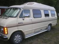 I HAVE A 1987 CLASS B Motorhome VAN. ROADTREX dodge