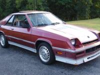1987 Shelby Charger. Runs and drives great. SUPER