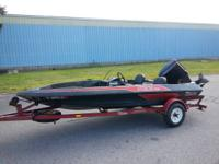 87 16 foot skeeter strada bass boat with matching