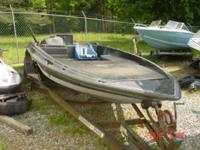 Trailer included. 1987 Stratos 179 V Bass Boat Hull