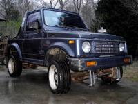 1987 SUZUKI SAMURAI 4X4 5 SPEED MANUAL TRANS, 1.3 4CYL