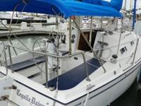 1987, 27' PEARSON 27 SAILBOAT Single Diesel UNIVERSAL