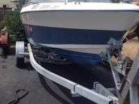 Boat includes trailer powered by mercruiser 165 hp. FWC