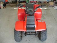 This is a 1987 Yamaha Badger 80 ATV. It is in great