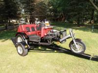 350 V8 1988 Cobra Trike with 2 matching trailers