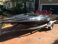 This is a turn key action marine speed boat that has a