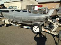 Nice used fishing boat with Electric Start, 4 Pedestal