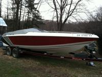 25 ft baja muscle boat big block 454 330hp bravo out
