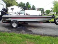 1988 Bass Tracker Tournament 1800 FS boat $2,650