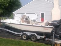 Boston Whaler 18 Outrage in solid condition. Purchased