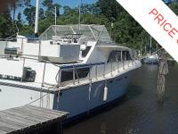 This Chris Craft 38 is in need of a lot of TLC, the