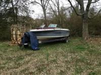 Available for sale: 18' Ebbtide boat and trailer. V8