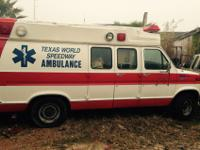 We have a 1988 Ford Ambulance. Selling as Parts Motor