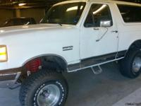"1988 Ford Bronco XLT 4X4 with 4"" lift and equiped with"