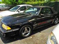 1988 FORD MUSTANG CONVERTIBLE 'GT', BLACK/BLACK