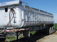 used aluminum dump trailer - steel frame - 24.5 tires