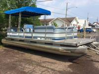 Great running travelling pontoon with Fourstroke Yamaha