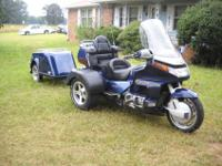 HONDA GOLDWING WITH A LEHMAN TRIKE CONVERSION AND ONLY